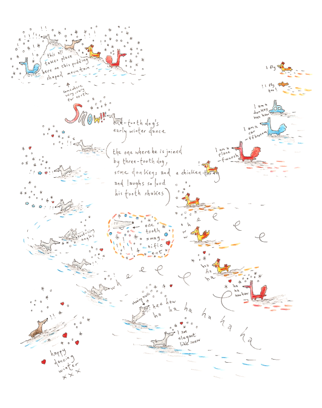 poem-onetoothdogsearlywinterdance