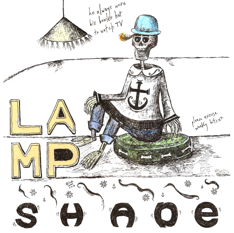 band - lamshade - he always wore his bowlwer hat to watch tv.png